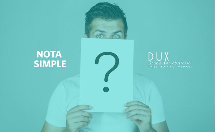¿Qué es una nota simple y para qué sirve?